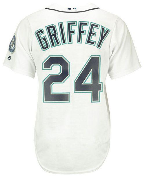 dd189c4c8 ... Majestic Ken Griffey Jr. Seattle Mariners Cooperstown Replica Jersey ...