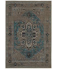 CLOSEOUT! Oriental Weavers Revamp REV7694E Grey/Blue Area Rugs