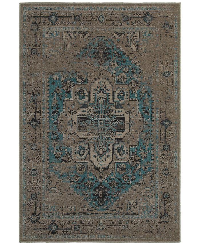 Oriental Weavers - Revamp REV7694E Grey/Blue Area Rugs