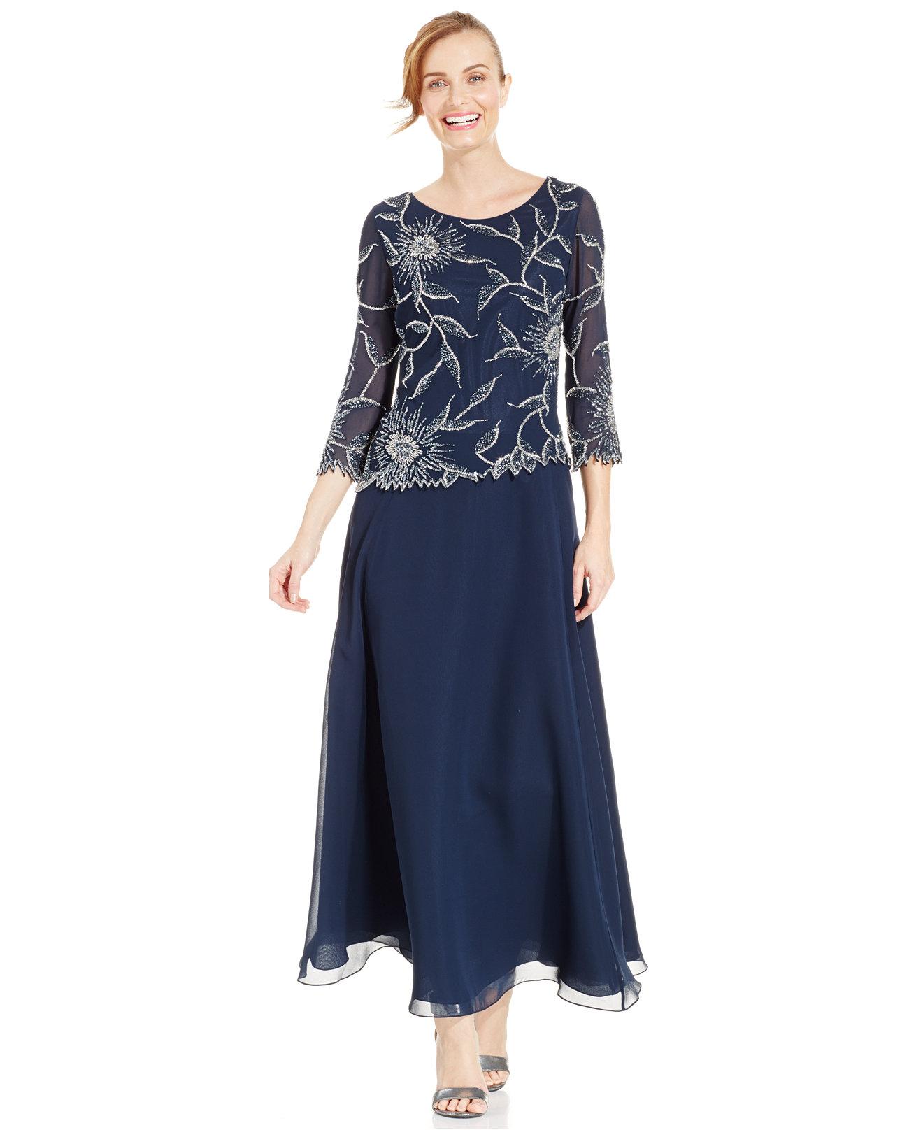J Kara Plus Size Evening Dresses - Purple Graduation Dresses