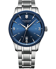 Victorinox Swiss Army Men's Alliance Stainless Steel Bracelet Watch 40mm 241711