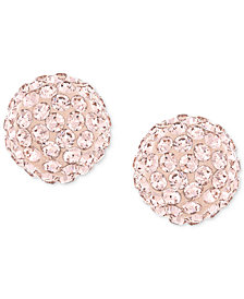 Swarovski Rose-Gold-Plated Crystal Stud Earrings