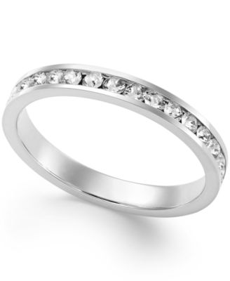 Image of Giani Bernini Swarovski Zirconia Band in Sterling Silver or 18k Gold over Sterling Silver