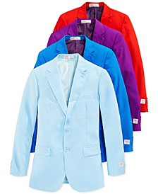 Solid Color Novelty Slim-Fit Suits & Matching Ties