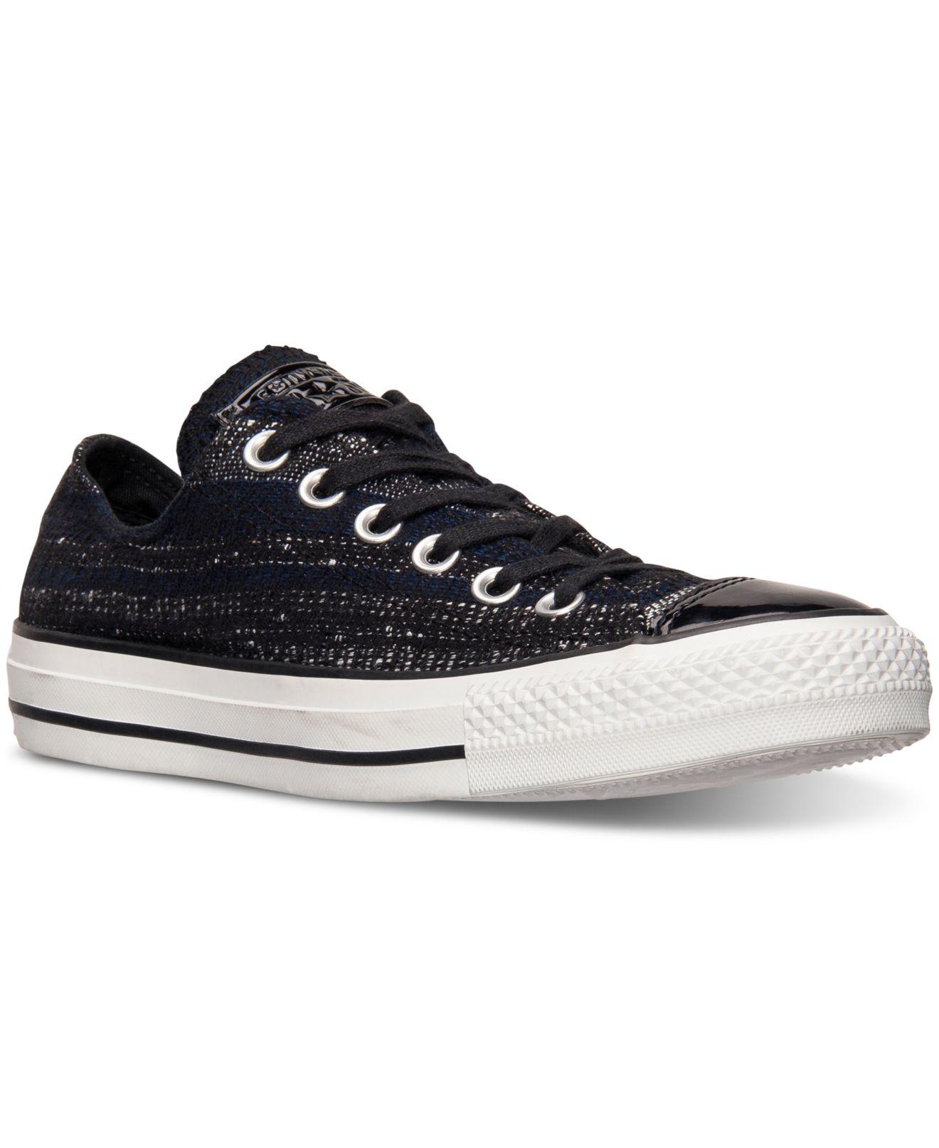 black sparkle converse