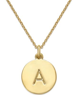 "Image of kate spade new york 17"" 12k Gold-Plated Initials Pendant Necklace"