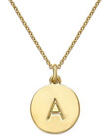 "12k Gold-Plated Initials Pendant Necklace, 17"" + 3"" Extender"