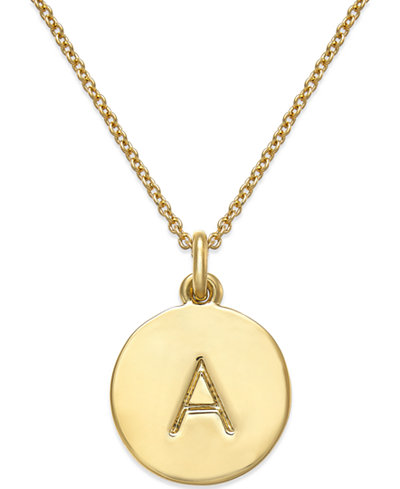 Kate spade new york 12k gold plated initials pendant necklace 17 kate spade new york 12k gold plated initials pendant necklace 17 mozeypictures Image collections