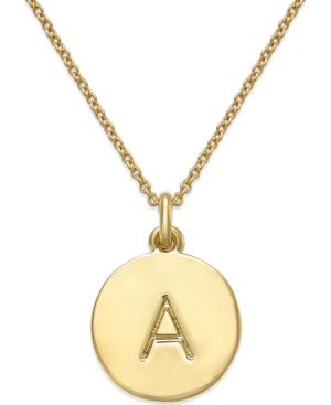 Kate Spade New York 12k Gold-Plated Initials Pendant Necklace, 17