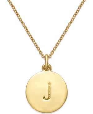 'One In A Million' Initial Pendant Necklace, J- Gold