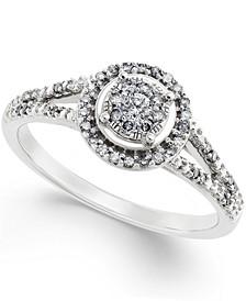Diamond Promise Ring in 10k White Gold ( 1/4 ct. t.w.)