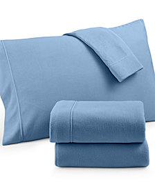 Martha Stewart Collection Fleece California King Sheet Set, Created for Macy's