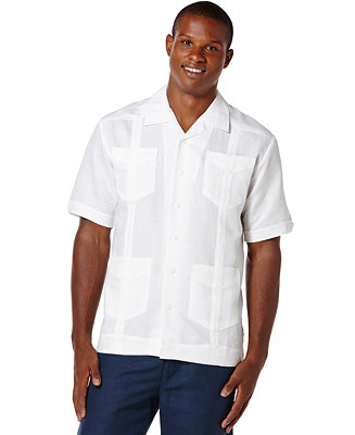 Cubavera Short Sleeve Guayabera Shirt Amp Reviews Casual