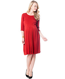 A Pea in the Pod Maternity Pleated Shift Dress