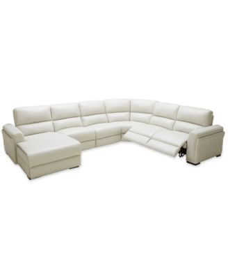Jessi 6-pc Leather Sectional Sofa with Chaise and 2 Power Recliners Created for  sc 1 st  Macyu0027s : sectional macys - Sectionals, Sofas & Couches