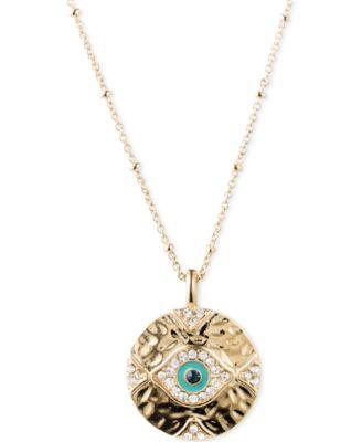 lonna lilly GoldTone Evil Eye Pendant Necklace Jewelry