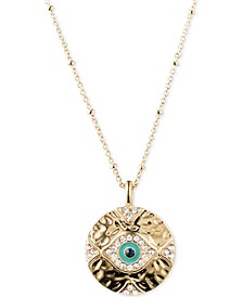 Gold-Tone Evil Eye Pendant Necklace