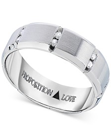 Men's Diamond Band in 14k White Gold (1/8 ct. t.w.)