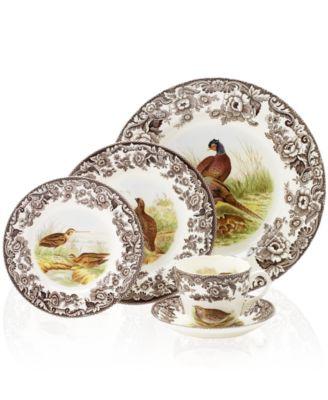 Spode Dinnerware Woodland Bird Collection  sc 1 st  Macy\u0027s & Spode Dinnerware Woodland Bird Collection - Dinnerware - Dining ...