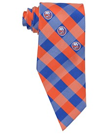 Eagles Wings New York Islanders Checked Tie