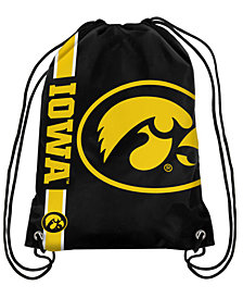 Forever Collectibles Iowa Hawkeyes Big Logo Drawstring Bag