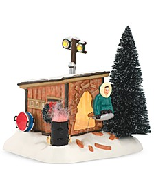 Snow Village National Lampoon's Christmas Vacation Griswold Sled Shack Figurine