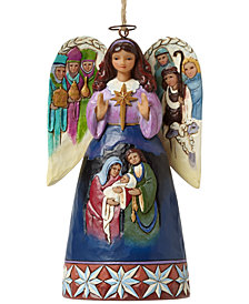 Jim Shore Lord At Thy Birth  Nativity Angel Collectible Ornament