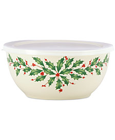 Lenox Holiday Serve and Store Bowl