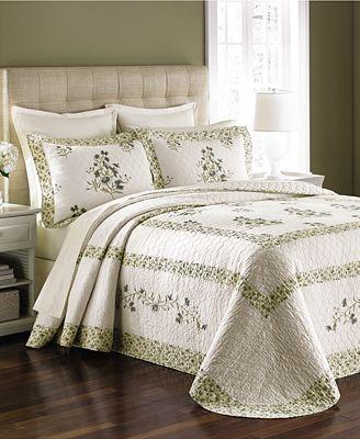 CLOSEOUT! Martha Stewart Collection Abbey Garden Bedspreads ... : macys bedding quilts - Adamdwight.com
