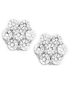 Wrapped in Love™ Diamond Cluster Earrings (1 ct. t.w.) in 14k White Gold, Created for Macy's