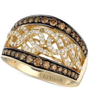 Le Vian Chocolatier Champagne and White Diamond (1 ct. t.w.) Band in 14k Gold