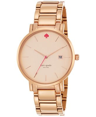 kate spade new york Women's Gramercy Grand Rose Gold-Tone Stainless Steel Bracelet Watch 38mm 1YRU0641