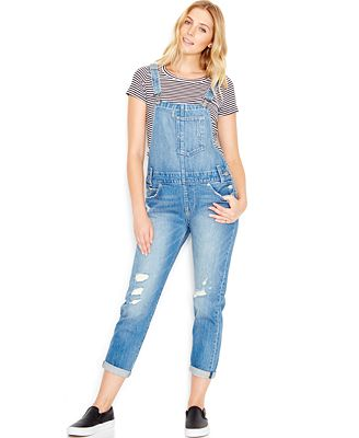 Levi's® Distressed Denim Overalls, Overlook Wash