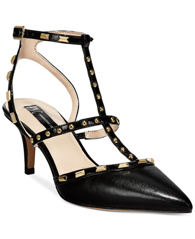 INC International Concepts Carma Pointed Toe Studded Kitten Heel Pumps, Created for Macy's