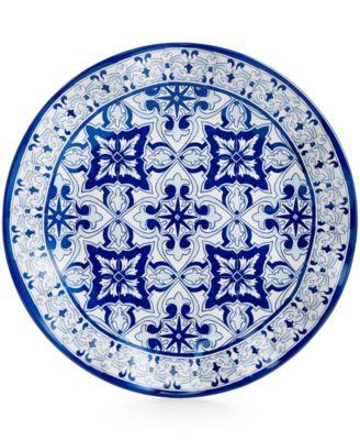 "Talavera Azul Collection Melamine 10.5"" Dinner Plate, Set of 4"