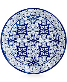 "Talavera Azul Collection Melamine 10.5"" Dinner Plate, Set of 4"