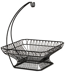 Gourmet Basics By Mikasa Fruit Basket & Banana Wire Hanger