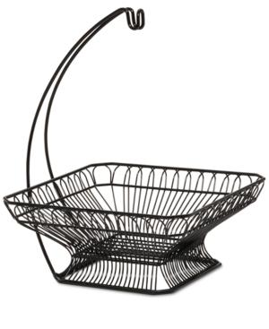 Gourmet Basics By Mikasa Fruit Basket & Banana Wire Hanger