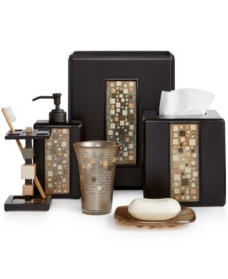 Starlight Bathroom Accessories Set With Swarovski, 3 Piece ...