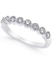 Diamond Halo Band (1/4 ct. t.w.) in 14k White Gold, 14K Rose Gold or Gold