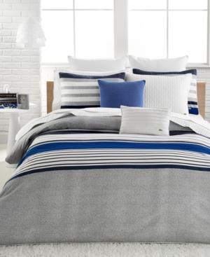Lacoste Home Auckland Blue King Comforter Set Bedding