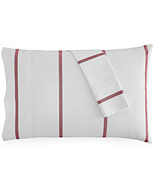 CLOSEOUT! Tommy Hilfiger Ellis Island Pair of Standard Pillowcases