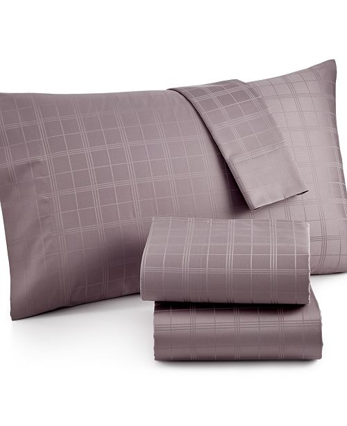 Charter Club CLOSEOUT! Windowpane 500 Thread Count Pima Cotton King Pillowcase Pair, Created for Macy's