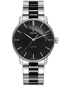 Rado Men's Swiss Automatic Coupole Classic Black Ceramos® and Stainless Steel Bracelet Watch 38mm R22860152