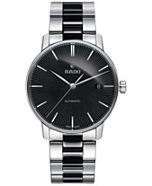 54fa25dfe Rado Men's Swiss Automatic Coupole Classic Black Ceramos® and Stainless  Steel Bracelet Watch 38mm R22860152
