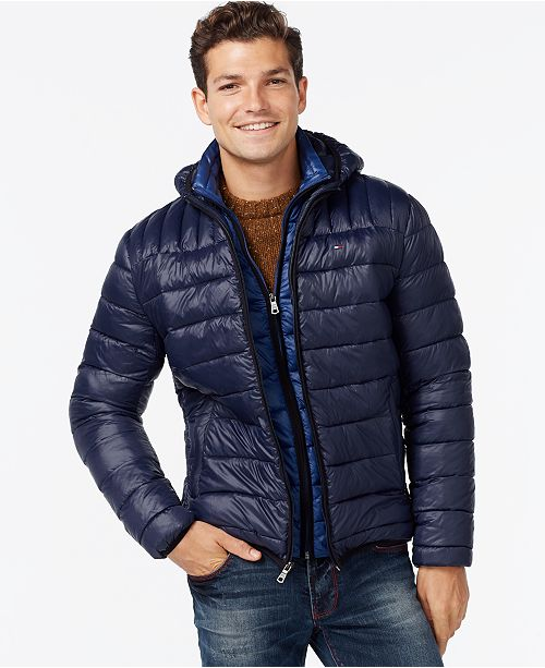 ceda854c9 Tommy Hilfiger Hooded Packable Jacket & Reviews - Coats & Jackets ...