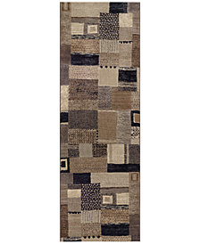 "Couristan Runner Rug, Taylor Maribel Ivory-Grey 2'7"" x 7'10"""