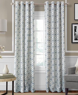 Elrene crackle room darkening collection easy care linen for Latest window treatments 2017