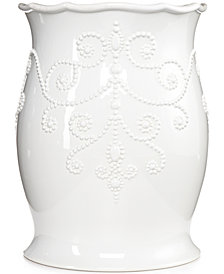 Lenox Bath French Perle Wastebasket