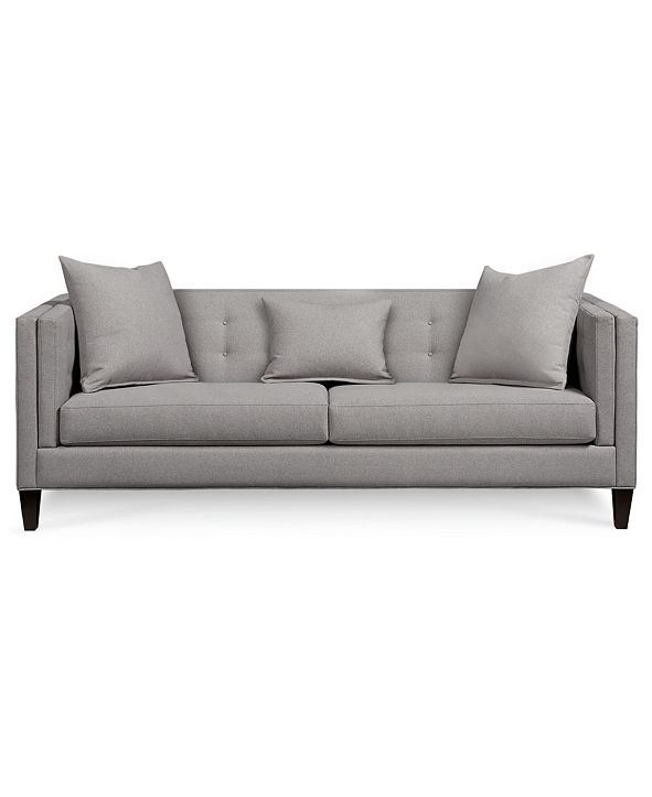 "Furniture Braylei 88"" Fabric Track Arm Sofa, Created for Macy's"